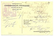 JAPAN OCCUP. DUTCH INDIES 6-8-03  POSTAGE FREE = ORPHAN CHAMBER= CENSOR FINE