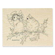 "New! Stampendous House-Mouse ""Joyful Noise"" WM Rubber Stamp"