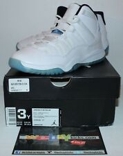 Air Jordan Retro 11 XI Legend Blue White Columbia Sneakers Boy's Size 3 New