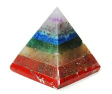 REIKI ENERGY CHARGED SEVEN CRYSTAL CHAKRA BONDED PYRAMID NATURAL POWERFUL GIFT