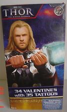 34 VALENTINES Age 3+ THOR Mighty AVENGER 35 Tattoos Valentine CARDS 7 Designs