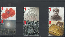 GB 2014 MNH Great Wear 1914 First World War One 6v Set Poppy Private William