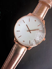 Yves Rocher Ladies Rose Gold Strap Buckle Analogue Watch White Dial New
