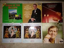 """Job lot of 6 LP's 12"""" inch Albums - Mantovani The Pearl Fishers Maurice Hanford"""