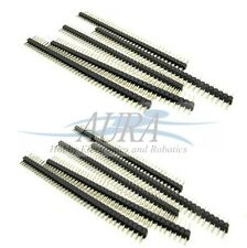 "10 X 40 Pin Header Macho 2.54mm 0.1"" Pitch Sil una sola fila Arduino Robot Reino Unido A206"