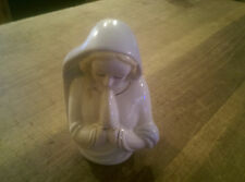 Vintage Porcelain Ceramic Virgin Mother Mary Madonna Planter Vase Praying Hands