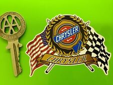 CHRYSLER USA Flags & Scroll style car sticker