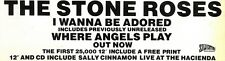 """31/8/91 Pgn06 The Stone RoseS : I Wanna Be Adored Advert 4x11"""""""