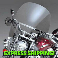 Harley Softail Deuce/Custom/Night Switchblade Windshield 2-Up CLEAR + Mount Kit