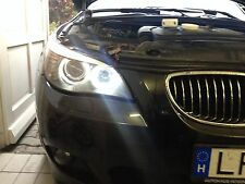 ►2X BMW 5er E39,E61 ANGEL EYE POWER LED BMW mit original Scheinwerfer E-MARK