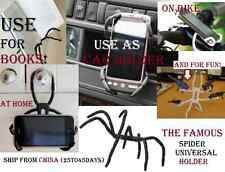 Universal Spider Mobile Phone Holder Car Bike Stand iphone Samsung GPS Support .