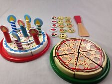 Wood Toys, Play Food, Kitchen, Pizza, Birthday Party, Puzzles.