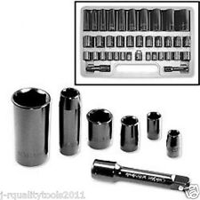 """3/8"""" AND 1/2"""" INCH DRIVE METRIC SAE IMPACT SOCKET TOOL SET AIR WRENCH"""