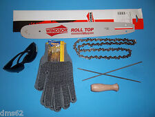 "NEW 16"" BAR & CHAIN GLOVES FILES FITS ECHO CHAINSAWS 3/8 56 L 16PKU50SSR"