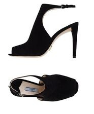 New PRADA Milano Black Suede Heeled Made in Italy Shoes/Dust Bag Sz 39 US8 $650