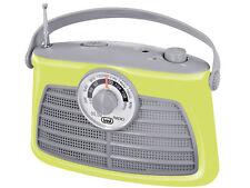 Retro Vintage Am-Fm Radio Portátil Clásico * Sintonización Giratorio Dial * Verde