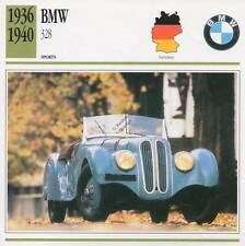 1936-1940 BMW 328 Sports Classic Car Photo/Info Maxi Card