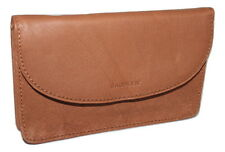 Saddler portamonete in pelle Custodia Stile Portafoglio wallet zip coin section Oak Tan