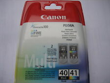 ORIGINALE Canon mp450 INK 1 XCL 41 color +1xpg40 BLACK pg40 + cl41 0615b043