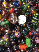10  Pounds Lamp Work Beads Glass/Crystal, Gemstones, 6-30mm, Wedding Cakes