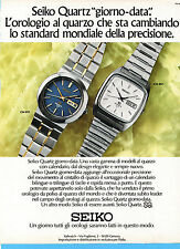 (AM) EPOCA975-PUBBLICITA'/ADVERTISING-1975- SEIKO - CM 013 e CM 037