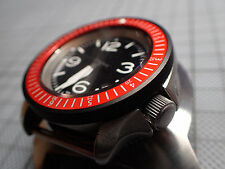 THE.SCANDI.ONE -DARK ORANGE- SEIKO BEZEL INSERT SKX007.020 W.LUM.DOT Z-04-Y