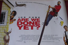 Cinema Poster: ARE WE DONE YET? 2007 (Quad) Ice Cube Nia Long