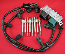 6.0L Powerstroke Glow Plug Kit - Dual Coil Glow Plugs, OEM Controller, Harnesses