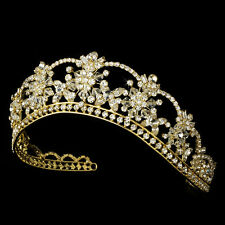 Princess Swarovski  Gold crystal bridal wedding tiara crown - WHOLESALE
