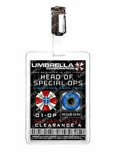 Resident Evil Umbrella Corp Head of Special Ops ID Badge Cosplay Prop Halloween