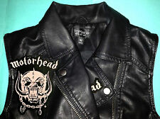 Motorhead War-Pig Girls Vegan Leather Biker Jacket Ace Of Spades Bomber Overkill