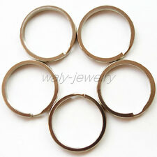 20Pcs Beautiful Silver Key Chain Keyring O-Rings Size 30mm Q270