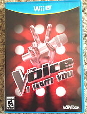 The Voice: I Want You Nintendo Wii U Singing Game *NEW* Stand alone game