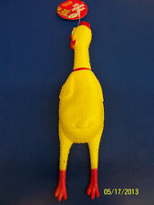 Vinyl Chicken Rubber Yellow Costume Accessory Party Favor Dog Toy w/Squeaker