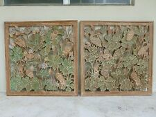 LARGE MID CENTURY CHINOISERIE HOLLYWOOD REGENCY HAND CARVED WOOD PANELS