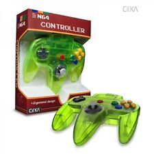 NEW Clear Neon Extreme Green CirKa Controller Gamepad Pad for N64 Nintendo 64