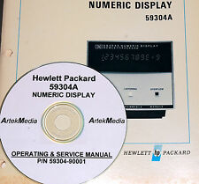 HP 59304A Numeric Display Operating & Service Manual