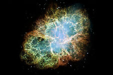 Large Framed Print -The CRAB Nebula (Picture Poster Art Space Star Earth Mars)
