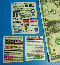 HO SLOT CAR STICKERS,Gulf Hooker Firestone Goodyear Hoosier Michelin FUN #C