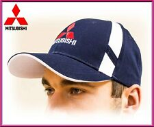 Mitsubishi unisex Baseball Cap Hat.100% cotton. Dark blue color. Adjustable size