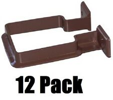 (12) ea Genova RB202 RainGo Brown Vinyl Downspout Support Brackets