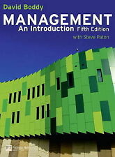 Management: An Introduction with MyLab Access Card by David Boddy (Mixed...