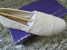 NEW MADDEN GIRL PORTIA ESPADRILLE SHOES WOMENS 9 CREAM NATURAL FREE SHIP!