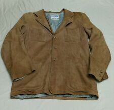 VTG 40s 50s Californian Suede Deerskin Leather Bomber Jacket Sportscoat Mens SM