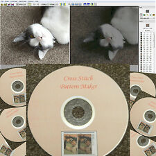 CROSS Stitch Pattern Maker su CD-TURN foto digitali & immagini in un modello