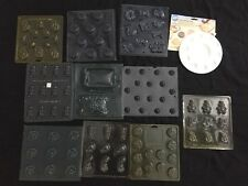 Lot 10 Chocolate Candy Molds Plastic Christmas,Easter Wilton Candy Melting Plate