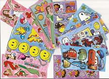 Disney & other Characters Mystery Stickers x20 Mickey Spiderman Cars Beauty Dora
