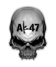 2 AK-47 Skull Decal - Assault Rifle AK47 Skull Sticker Gun laptop ipad decals