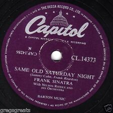 "1955 FRANK SINATRA 78 "" SAME OLD SATURDAY NIGHT /FAIRY TALE "" CAPITOL CL14373 EX"