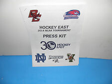 NCAA Hockey East 2014 Tournament Press Kit